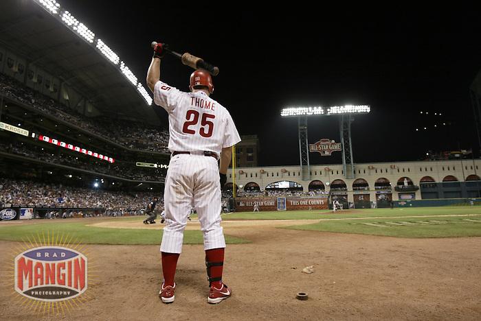 Jim Thome. Baseball: 2004 All Star Game. Houston, TX 7/9/2004 MANDATORY CREDIT: Brad Mangin