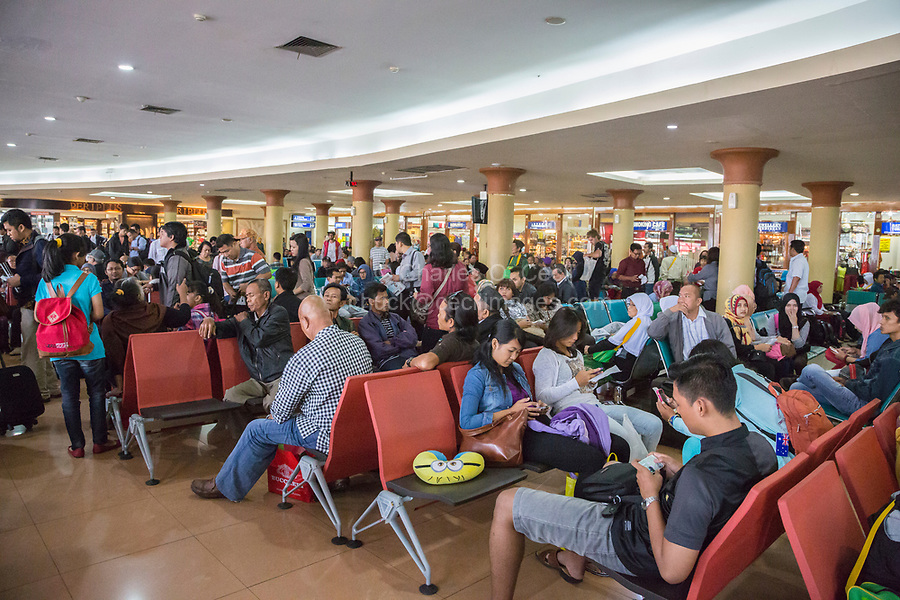 Yogyakarta, Indonesia.  Airport Departure Lounge, Waiting Room.