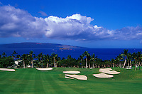 Wailea Emerald hole number 18 designed by Robert Trent Jones II on Maui