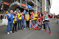 ASM Clermont Auvergne and RC Toulon fan enjoying the pre-match atmosphere before the European Rugby Champions Cup Final at Twickenham