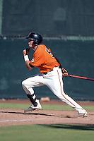 San Francisco Giants third baseman Ryder Jones (58) during an instructional league game against the Arizona Diamondbacks on October 3, 2013 at Giants Baseball Complex in Scottsdale, Arizona.  (Mike Janes/Four Seam Images)