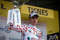 podium with Polka Dots Jersey Romain Bardet (FRA/AG2R La Mondiale) <br /> <br /> Stage 19: Saint-Jean-de-Maurienne to Tignes (126km)<br /> 106th Tour de France 2019 (2.UWT)<br /> <br /> ©kramon