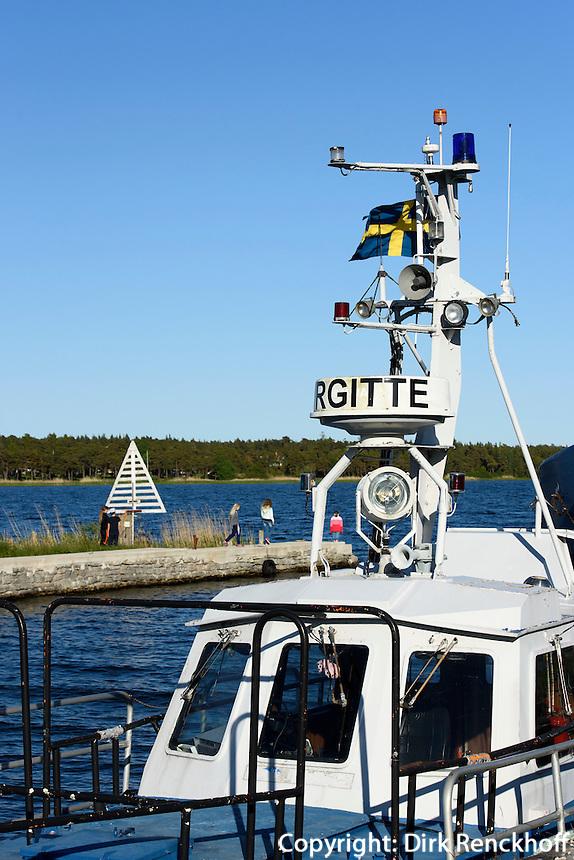 Hafen von Valleviken auf der Insel Gotland, Schweden, Europa<br /> port of Valleviken, Isle of Gotland Sweden