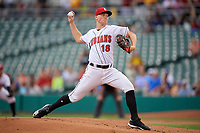Indianapolis Indians starting pitcher Mitch Keller (18) during an International League game against the Syracuse Mets on July 16, 2019 at Victory Field in Indianapolis, Indiana.  Syracuse defeated Indianapolis 5-2  (Mike Janes/Four Seam Images)