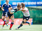 France vs Japan during the Day 2 of the IRB Women's Sevens Qualifier 2014 at the Skek Kip Mei Stadium on September 13, 2014 in Hong Kong, China. Photo by Aitor Alcalde / Power Sport Images