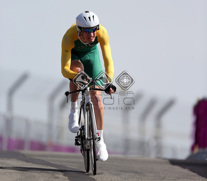 David Nicholas (AUS), Men's Individual C 3 Time Trial.<br /> Cycling Road, Brands Hatch (Wednesday 5th Sept)<br /> Paralympics - Summer / London 2012<br /> London England 29 Aug - 9 Sept <br /> © Sport the library/Joseph Johnson