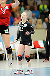 Rüsselsheim, Germany, April 13: Anna Pogany #12 of the Rote Raben Vilsbiburg looks on during play off Game 1 in the best of three series in the semifinal of the DVL (Deutsche Volleyball-Bundesliga Damen) season 2013/2014 between the VC Wiesbaden and the Rote Raben Vilsbiburg on April 13, 2014 at Grosssporthalle in Rüsselsheim, Germany. Final score 0:3 (Photo by Dirk Markgraf / www.265-images.com) *** Local caption ***