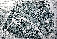 Paris: Plan of Paris after Haussemann. Everson, PARIS: A CENTURY OF CHANGE, P. 16. Reference only.
