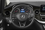 Car pictures of steering wheel view of a 2021 Mercedes Benz EQV - 5 Door Passanger Van Steering Wheel