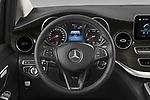 Car pictures of steering wheel view of a 2021 Mercedes Benz EQV - 5 Door Passanger Van Steering Wheel