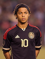 Mexican national team forward Giovani Dos Santos (10). The national teams of Mexico and Venezuela played to a 1-1 draw in an International friendly match at  Qualcomm stadium in San Diego, California on  March 29, 2011...