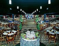 Captains Table Restaurant, Wildwood NJ. Interior. 1960's.
