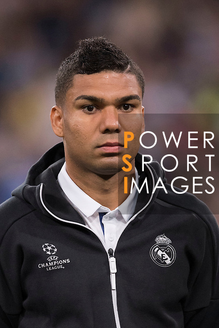 Carlos Henrique Casemiro of Real Madrid poses for photos during their 2016-17 UEFA Champions League match between Real Madrid vs Sporting Portugal at the Santiago Bernabeu Stadium on 14 September 2016 in Madrid, Spain. Photo by Diego Gonzalez Souto / Power Sport Images