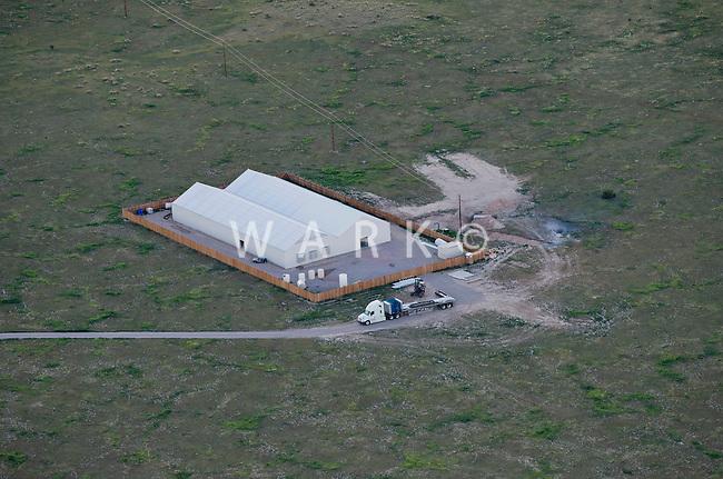 Pot greenhouse, Pueblo County, Colorado.  June 2014