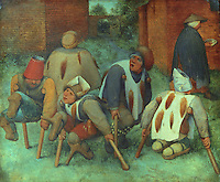 Paintings:  Pieter I Brueghel (1525-1569)--Les Mendiants, 1564.  Louvre.  Reference only.