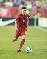 Portugal forward Helder Postiga (23).  In an International friendly match Brazil defeated Portugal, 3-1, at Gillette Stadium on Sep 10, 2013.