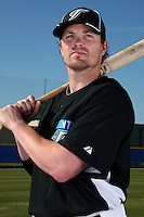March 1, 2010:  Infielder Mike McCoy (18) of the Toronto Blue Jays poses for a photo during media day at Englebert Complex in Dunedin, FL.  Photo By Mike Janes/Four Seam Images