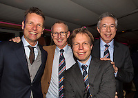 Moskou, Russia, Februari 4, 2016,  Fed Cup Russia-Netherlands,  Official Dinner, Dutch team , ltr: Jan Siemerink, Martin Koek, Erik Poel and Rolf Thung<br /> Photo: Tennisimages/Henk Koster