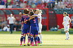 Women's Japan National team (JPN), JULY 1, 2015 - Football / Soccer : Japan team celebrates after scoring team's 2nd goal during the FIFA Women's World Cup Canada 2015 Semi-final match between Japan and England at Commonwealth Stadium in Edmonton, Canada. (Photo by Yusuke Nakanishi/AFLO SPORT)