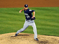 21 June 2011: Seattle Mariners pitcher David Pauley on the mound in place of Brandon League during the 9th inning against the Washington Nationals at Nationals Park in Washington, District of Columbia. The Nationals rallied from a 5-1 deficit, scoring 5 runs in the bottom of the 9th, to defeat the Mariners 6-5 in inter-league play. Mandatory Credit: Ed Wolfstein Photo
