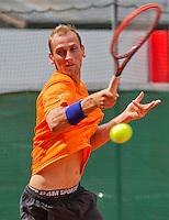 Austria, Kitzbuhel, Juli 14, 2015, Tennis, Davis Cup, Training Dutch team, Thiemo de Bakker <br /> Photo: Tennisimages/Henk Koster