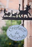 Europe/France/Midi-Pyrénées/81/Tarn/Cordes-sur-Ciel: Détail enseigne d'un artisan