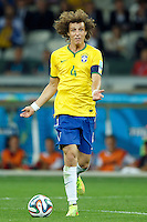 David Luiz of Brazil looks frustrated with his lack of options
