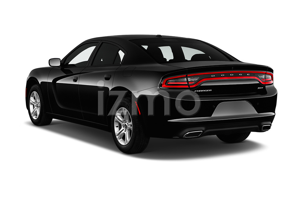 Car pictures of rear three quarter view of a 2017 Dodge Charger SXT 4 Door Sedan angular rear