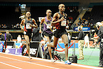 Bernard Lagat loses to Silas Kiplagat in the men's one mile run at the first U.S. Open on January 29, 2012 at Madison Square Garden in New York, New York.  (Bob Mayberger/Eclipse Sportswire)