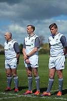 The match officials before the rugby union match between New Zealand Schools and Australia Under-18s at St Paul's Collegiate in Hamilton, New Zealand on Friday, 4 October 2019. Photo: Dave Lintott / lintottphoto.co.nz