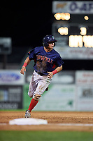 Lowell Spinners second baseman Frankie Rios (15) running the bases during a game against the Batavia Muckdogs on July 11, 2017 at Dwyer Stadium in Batavia, New York.  Lowell defeated Batavia 5-2.  (Mike Janes/Four Seam Images)
