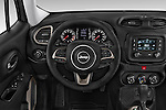 Car pictures of steering wheel view of a 2015 JEEP Renegade Latitude Door Sport Utility Vehicle Steering Wheel