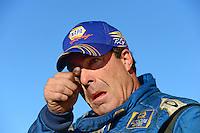 Nov. 11, 2012; Pomona, CA, USA: NHRA a rejected funny car driver Ron Capps reacts after losing the championship during the Auto Club Finals at at Auto Club Raceway at Pomona. Mandatory Credit: Mark J. Rebilas-