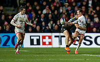 Friday 13th December 2019 | Harlequins vs Ulster Rugby<br /> <br /> Billy Burns puts Jacob Stockdale clear during the Heineken Champions Cup Round 4 clash in Pool 3, between Harlequins and Ulster Rugby and Harlequins at The Stoop, Twickenham, London, England. Photo by John Dickson / DICKSONDIGITAL