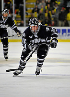 1 February 2008: University of New Hampshire Wildcats' forward Jerry Pollastrone, a Junior from Revere, MA, skates against the University of Vermont Catamounts at Gutterson Fieldhouse in Burlington, Vermont. The seventh-ranked Wildcats defeated the Catamounts 5-1in front of a sellout crowd of 4,003...Mandatory Photo Credit: Ed Wolfstein Photo