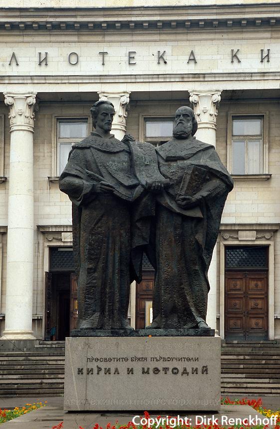 Bulgarien, Sofia, Denkmal von Kyrill und Method