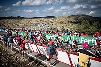 the race finale towards the finish (at almost 2000m alt.)<br /> <br /> Stage 5: L'Eliana to Observatorio Astrofísico de Javalambre (171km)<br /> La Vuelta 2019<br /> <br /> ©kramon