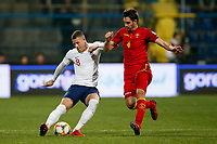Ross Barkley of England and Nikola Vukcevic of Montenegro  <br /> Podgorica 25-3-2019 <br /> Football Euro2020 Qualification Montenegro - England <br /> Foto Daniel Chesterton / PHC / Insidefoto <br /> ITALY ONLY