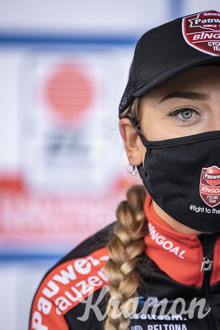 Denise Betsema (NED/Pauwels Sauzen-Bingoal) post race<br /> <br /> Women's elite Race <br /> Zilvermeercross Mol (BEL) 2021<br /> <br /> ©Kramon