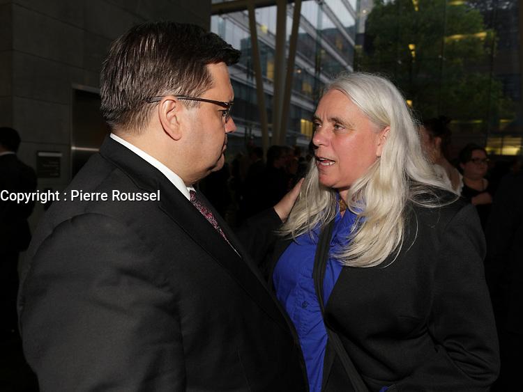 Denis Coderre <br /> et<br /> Manon Masse<br /> au<br /> 13 ieme Gala Phenicia , 25 mai 2017