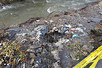 Pictured: A crater created by the force of the water by Rhondda river in Porth. Wednesday 04 March 2020<br /> Re: Revisiting the flood affected areas in Pontypridd, Wales, UK.