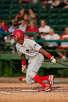 May 6 2010: D'Arby Myers (35) of the Clearwater Threshers during a game vs. the Daytona Cubs at Jackie Robinson Ballpark in Daytona Beach, Florida. Clearwater, the Florida State League High-A affiliate of the Philadelphia Phillies, won the game against Daytona, affiliate of the Chicago Cubs, by the score of 8-3.  Photo By Scott Jontes/Four Seam Images