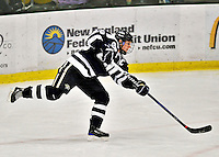 29 January 2012: University of New Hampshire Wildcat defenseman Kailey Chappell, a Junior from Pickering, Ontario, in action against the University of Vermont Catamounts at Gutterson Fieldhouse in Burlington, Vermont. The Lady Cats edged out the Lady Wildcats 2-1 to split their Hockey East twin-game weekend series. Mandatory Credit: Ed Wolfstein Photo