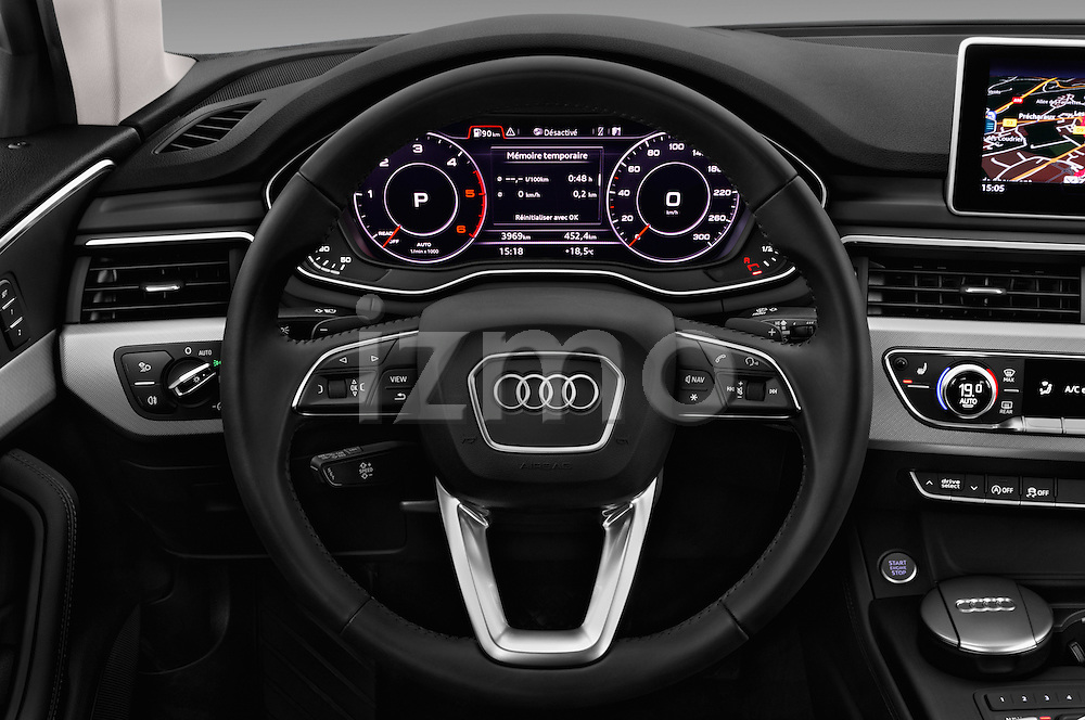 Car pictures of steering wheel view of a 2017 Audi A4-Allroad Design-Luxe 5 Door wagon Steering Wheel