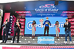 Geoffrey Bouchard (FRA) AG2R Citroen Team retains the mountains Maglia Azzurra at the end of Stage 13 of the 2021 Giro d'Italia, running 198km from Ravenna to Verona, Italy. 21st May 2021.  <br /> Picture: LaPresse/Massimo Paolone | Cyclefile<br /> <br /> All photos usage must carry mandatory copyright credit (© Cyclefile | LaPresse/Massimo Paolone)