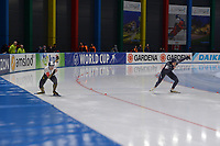 SPEEDSKATING: 23-11-2019 Tomaszów Mazowiecki (POL), ISU World Cup Arena Lodowa, 500m Ladies Division A, Nao Kodaira (JPN), Brittany Bowe (USA), ©photo Martin de Jong