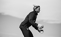 COMMERCE CITY, CO - OCTOBER 25: Jane Campbell of the USWNT looks to the ball at Dick's Sporting Goods training fields on October 25, 2020 in Commerce City, Colorado.