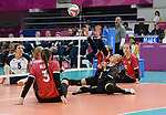 Sarah Melenka, Danielle Ellis, Jolan Wong, and Julie Kozun, Lima 2019 - Sitting Volleyball // Volleyball assis.<br />