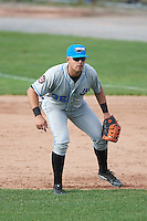 Hudson Valley Renegades first baseman Nathaniel Lowe (36) during a game against the Batavia Muckdogs on July 31, 2016 at Dwyer Stadium in Batavia, New York.  Hudson Valley defeated Batavia 4-1.  (Mike Janes/Four Seam Images)