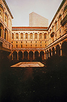 Courtyard of Boston Public Library designed by McKim, Mead & White.